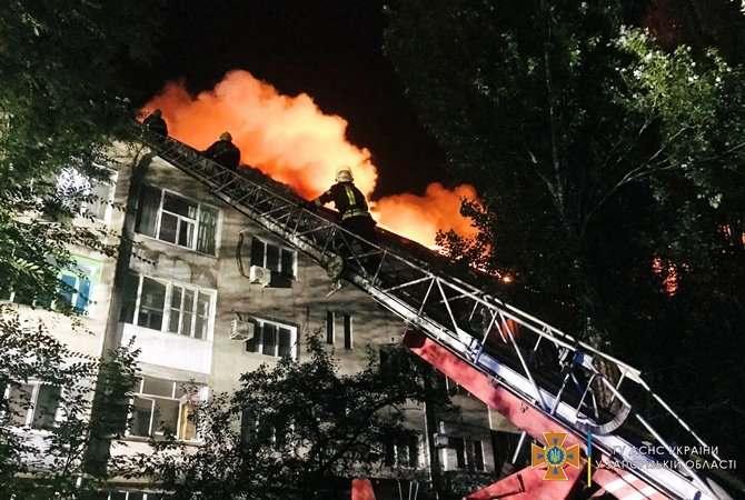 Пожар в центре Запорожья мог возникнуть из-за взрыва баллона с газом (ВИДЕО)